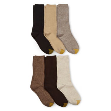 jcpenney.com | GoldToe® 6-pk. Ribbed Crew Socks