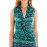 a.n.a® Knit Wrap Tank Top - Tall