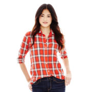Joe Fresh™ Button-Front Plaid Shirt