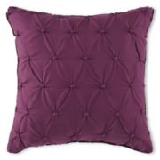 Liz Claiborne Plum Garden Square Decorative Pillow