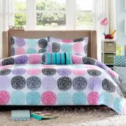 Mizone Audrina Polka Dot Comforter Set