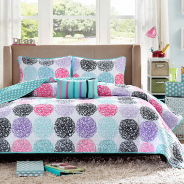jcpenney.com | Mi Zone Audrina Polka Dot Quilt Set & Accessories