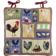 Park B. Smith® Rooster and Chickens Chair Cushion