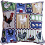 Park B. Smith® Rooster and Chickens Decorative Pillow