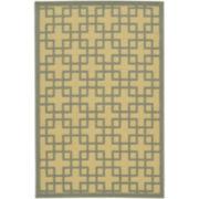 Square Geo Washable Rectangular Rug