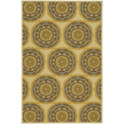Medallion Geo Washable Rectangular Rug