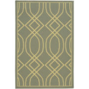 Wave Geo Washable Rectangular Rug