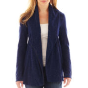 a.n.a® Long-Sleeve Knit Flyaway Jacket - Petite