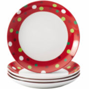 Rachael Ray® Hoot's Set of 4 Appetizer Plates – Dots