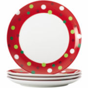 Rachael Ray® Hoot's Set of 4 Salad Plates – Dots