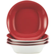 Rachael Ray® Round and Square Set of 4 Soup/Pasta Bowls