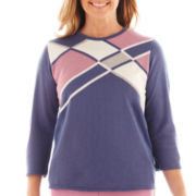 Alfred Dunner® Hillside Cottage 3/4-Sleeve Colorblock Sweater