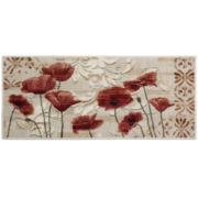 Poppy Heaven Washable Rectangular Rug