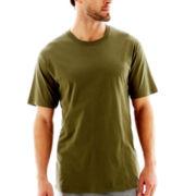 Stafford® Cotton Lightweight Color Crewneck T-Shirt