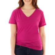 Arizona Short-Sleeve V-Neck Tee - Plus