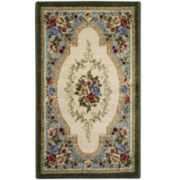 Estate Rose Washable Rectangular Rugs