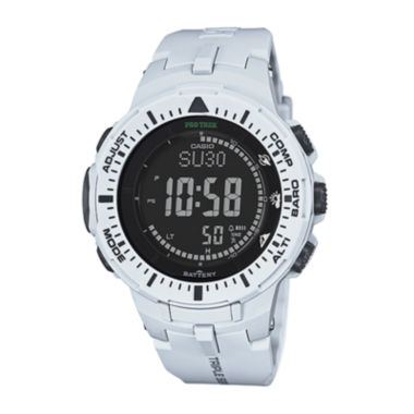 jcpenney.com | Casio® Pro Trek Tough Solar Triple Sensor Mens World Time Watch PRG300-7CR