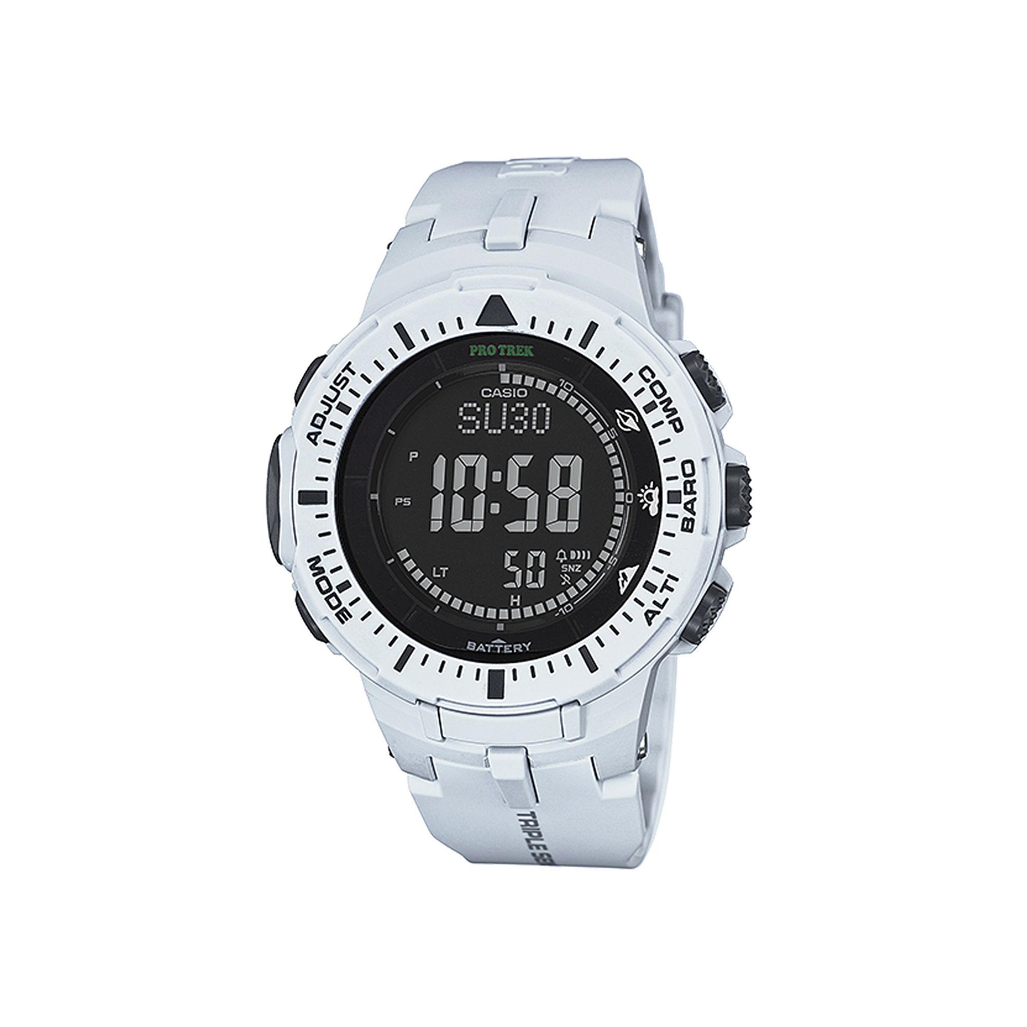 Casio Pro Trek Tough Solar Triple Sensor Mens World Time Watch PRG300-7CR
