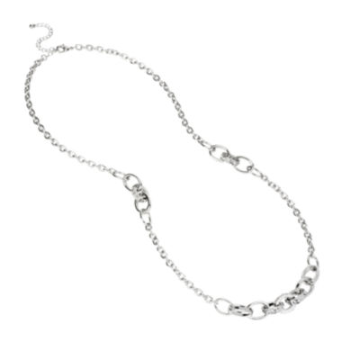jcpenney.com | Worthington® Crystal-Accent Silver-Tone Necklace