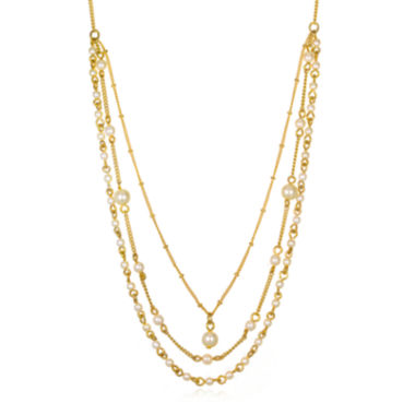 jcpenney.com | Mixit™ Simulated Pearl 3-Row Layered-Look Necklace