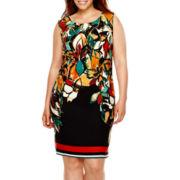 Alyx® Sleeveless Zipper-Shoulder Shift Dress - Plus