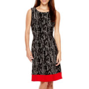 Alyx® Sleeveless Colorblock Fit-and-Flare Dress - Petite