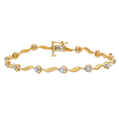jcpenney.com | 1/10 CT. T.W. Diamond 10K Yellow Gold Bracelet