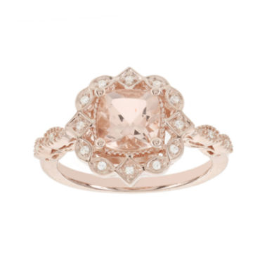 jcpenney.com | Blooming Bridal Genuine Morganite and Diamond-Accent 14K Rose Gold Ring