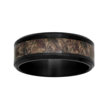 jcpenney.com |  Mens Black Ceramic and Camo Inlay 8mm Comfort Fit Wedding Band