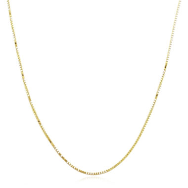"jcpenney.com | 14K Yellow Gold 20"" Semi-Solid Box Chain Necklace"