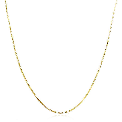 "Made in Italy 14K Yellow Gold 20"" Semi-Solid Box Chain Necklace"