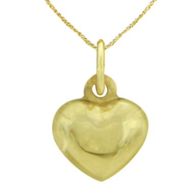 jcpenney.com | LIMITED QUANTITIES! 14K Yellow Gold Heart Pendant Necklace