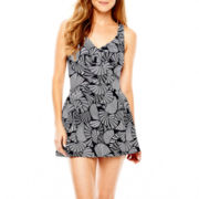 Azul by Maxine of Hollywood Print 1-Piece Swimdress