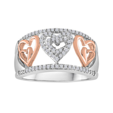 jcpenney.com | ForeverMine® 1/5 CT. T.W. Diamond Two-Tone Heart Ring