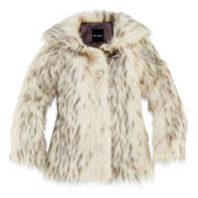 Me Jane Faux-Fur Leopard-Print Jacket - Girls 7-16