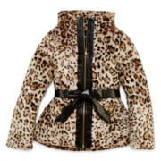 by&by Girl Faux-Fur Leopard-Print Jacket - Girls 7-16