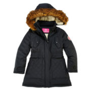 Weatherproof Fleece-Lined Stadium Jacket - Girls 7-16