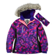 ZeroXposur® Victoria Snowboard Jacket and Headband - Girls 7-16