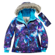 ZeroXposur® Snowboard Jacket and Headband - Girls 7-16 and Plus