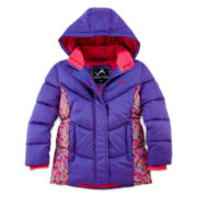 Vertical 9 Hooded Puffer Jacket - Preschool Girls 4-6x