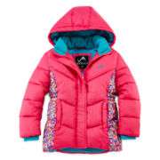 Vertical 9 Hooded Puffer Jacket - Toddler Girls 2t-4t