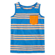 Okie Dokie® Striped Pocket Tank Top - Toddler Boys 2t-5t