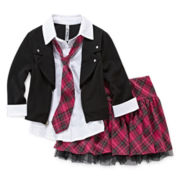 Beautees Jacket Top and Skort Set - Girls 7-16 and Plus