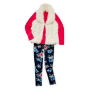 Arizona Faux-Fur Vest, Long-Sleeve Tee or Leggings - Girls 7-16 and Plus