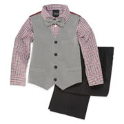4-pc. Twill Vest Set - Boys 4-10