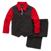 4-pc. Striped Vest Set - Boys 2t-5t
