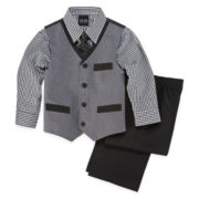 4-pc. Poplin Vest Set - Boys 2t-5t