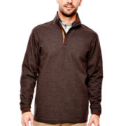 Haggar® Quarter-Zip Houndstooth Pullover