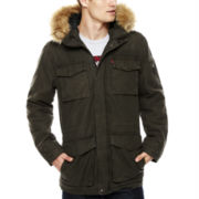Levi's® Cotton Parka with Faux Fur-Trimmed Hood