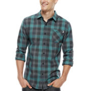 DC® Long-Sleeve Compact Plaid Flannel Shirt